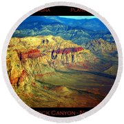 Red Rock Canyon Poster Print Round Beach Towel