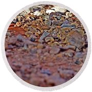 Red Rock Canyon Stones 1 Round Beach Towel