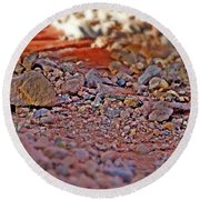 Red Rock Canyon Stones 2 Round Beach Towel