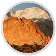 Red Rock Round Beach Towel by Eric Glaser