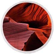Red Rock Inferno Round Beach Towel by Mike  Dawson