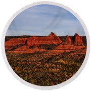 Red Rock Peaks 23 Round Beach Towel