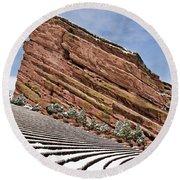 Red Rocks Amphitheater Round Beach Towel
