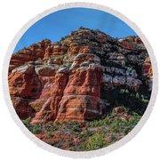 Red Rocks Of Sedona Round Beach Towel