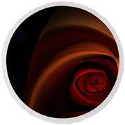 Red Rose Bud Round Beach Towel