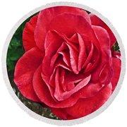 Red Rose F135 Round Beach Towel