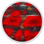 Red Scare Round Beach Towel