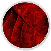 Red Sea Grape Round Beach Towel