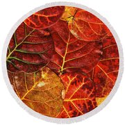 Red Sea Grapes By Sharon Cummings Round Beach Towel