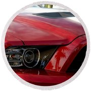Red Shelby Round Beach Towel