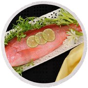 Red Snapper. Round Beach Towel