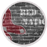 Red Sox Nation Round Beach Towel