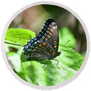 Red-spotted Purple 4172 Round Beach Towel