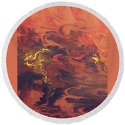 Red Storm Round Beach Towel