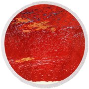 Red Surf On The Beach Round Beach Towel