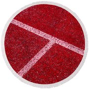 Red Tee Round Beach Towel