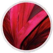 Red Ti Leaf Plant - Hawaii Round Beach Towel