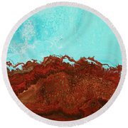 Red Tide Round Beach Towel