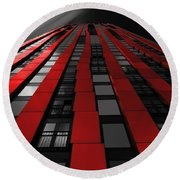 Red To The Sky Round Beach Towel