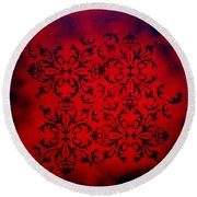 Red Velvet By Madart Round Beach Towel