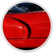 Red Viper Round Beach Towel