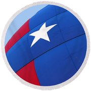 Red White And Blue Balloon Round Beach Towel