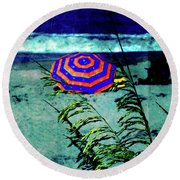 Red-white-blue Round Beach Towel