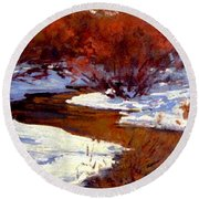 Red Willow Creek Round Beach Towel