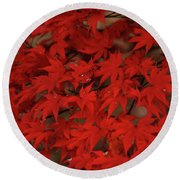 Red With Envy Round Beach Towel
