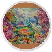 Redband Parrotfish Round Beach Towel
