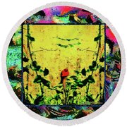 Redbird In The Valley Of Beautiful Possibilities Round Beach Towel