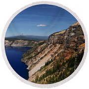 Redcloud Cliff Round Beach Towel