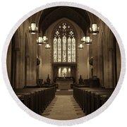 Redemption - Church Of Heavenly Rest #3 Round Beach Towel