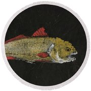 Redfish Round Beach Towel by Captain Warren Sellers