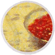 Redkurrants Round Beach Towel