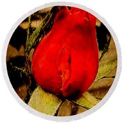Redrose Round Beach Towel