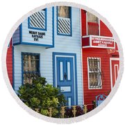 Reds And Blues Round Beach Towel