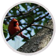 Red's Ray Of Light Round Beach Towel