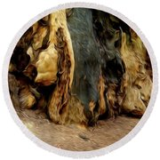 Redwood Abstract Round Beach Towel