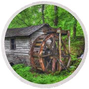 Reed Springs Grist Mill Round Beach Towel
