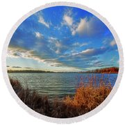 Reeds And Wind Round Beach Towel