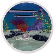 Reef Round Beach Towel by Corey Ford