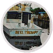 Reel Therapy Round Beach Towel