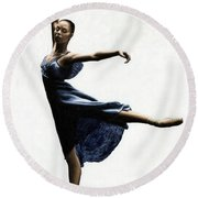 Refined Grace Round Beach Towel by Richard Young