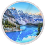 Reflect On Nature Round Beach Towel