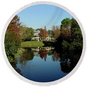 Reflected Elegance Round Beach Towel