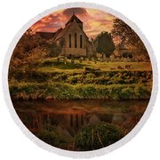Reflected In The Stour Round Beach Towel