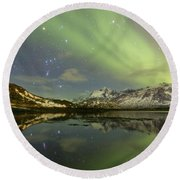 Reflected Orion Round Beach Towel