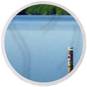 Reflected Warning Round Beach Towel
