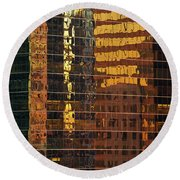 Reflecting Chicago Round Beach Towel